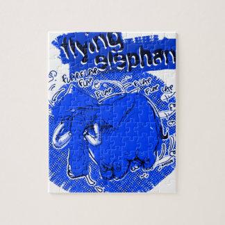 flying_elephant pure_blue jigsaw puzzle