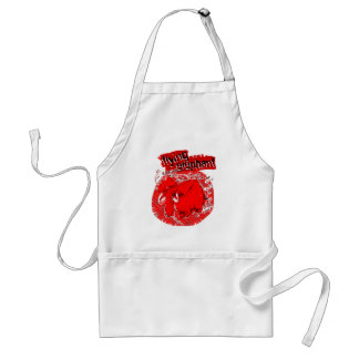 flying_elephant pure red adult apron