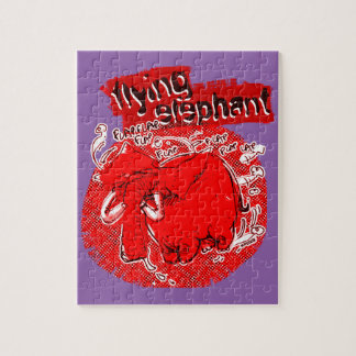 flying_elephant pure red jigsaw puzzle