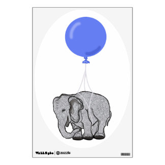 Flying elephant wall stickers