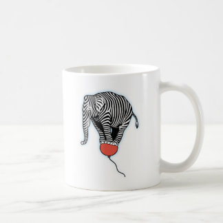 FLying Elephant Zebra Coffee Mug