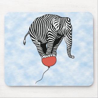 FLying Elephant Zebra Mouse Pad