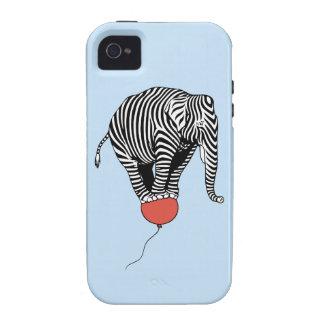 FLying Elephant Zebra Vibe iPhone 4 Case
