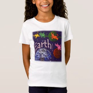 Flying Elephants Over Earth T-Shirt