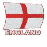Flying England Flag Embroidered  Tracksuit Jacket