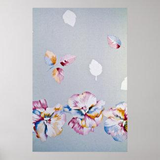 Flying eternity flowers print