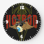 Flying Eyeball Hot Rod Wall Clock