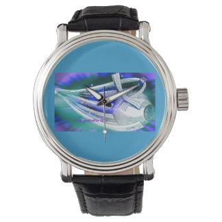 Flying Eyeball in Space Wristwatch