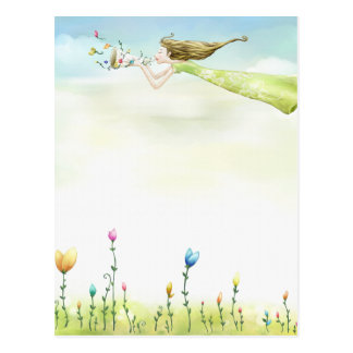 flying fairy postcards