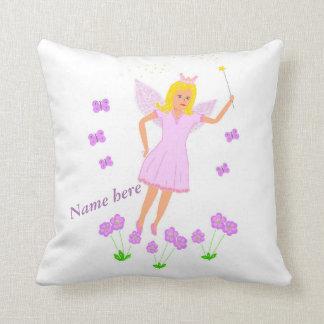 Flying Fairy Princess, pretty, option add name Throw Pillows