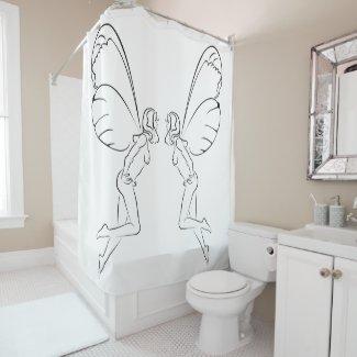Flying Fairys Shower Curtain