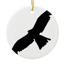 Flying Falcon Ceramic Ornament