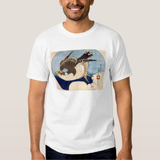 Flying Falcon, Hokusai Tee Shirts