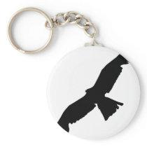 Flying Falcon Keychain