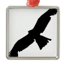Flying Falcon Metal Ornament