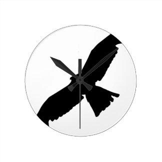 Flying Falcon Round Clock