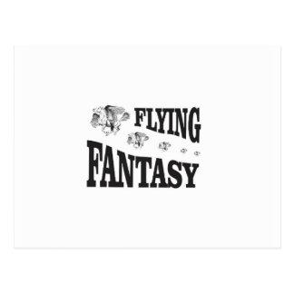 flying fantasy horse postcard