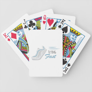 Flying Fast Bicycle Playing Cards