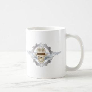 Flying Fedora Skull Dieselpunk Coffee Mug
