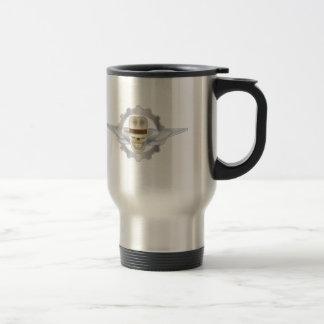 Flying Fedora Skull Dieselpunk Travel Mug