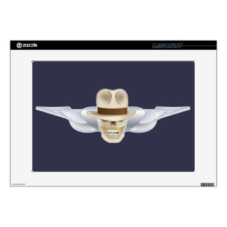Flying Fedora Skull Laptop Cover Laptop Decal