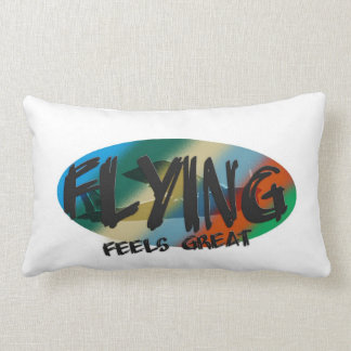 Flying Feels Great Throw Pillows