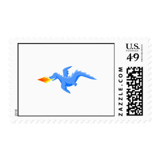 Flying Fire Breather Dragon Postage Stamps