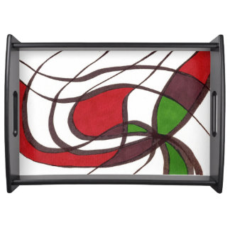 """""""Flying Fish"""" Abstract Serving Tray"""