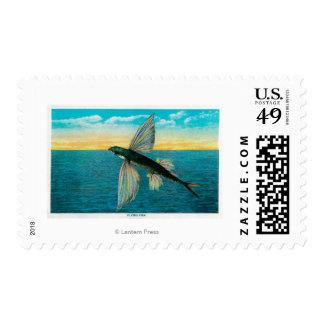 Flying Fish at Catalina Island Postage Stamp