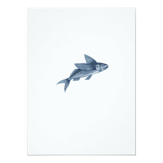 Flying Fish Drawing Card