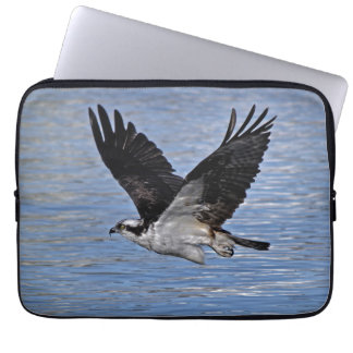 Flying Fish Eagle Osprey Nature Photograph Laptop Sleeve