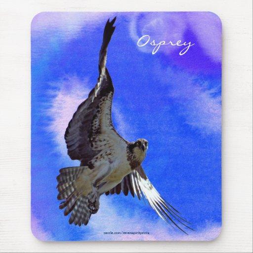 Flying Fish Hawk (Osprey) Wildlife Mousepad