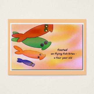 Flying Fish Kites Haiku Art ACEO Trading Card