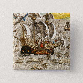 Flying Fish Meet in the Torrid Zone Pinback Button