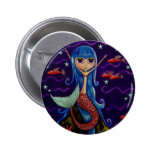 Flying Fish Mermaid Button