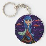 Flying Fish Mermaid Keychain