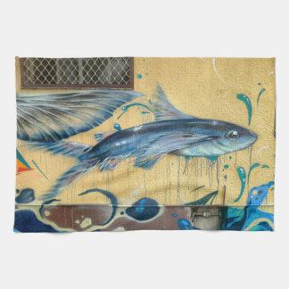 Flying Fish No.3 Kitchen Towel