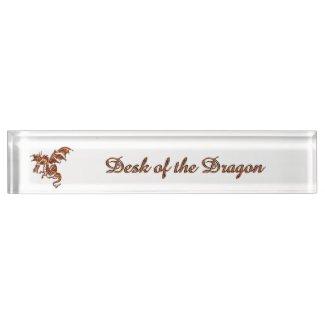 Flying Flame Dragon Name Plate