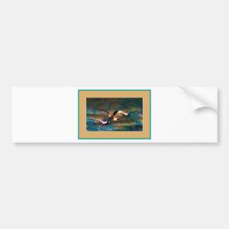 Flying Flamingos Bumper Sticker