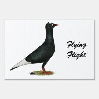 Flying Flight Black Cap Sign