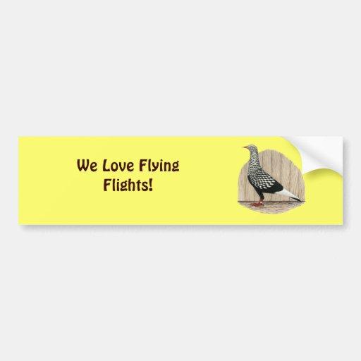 Flying Flight Black Teager Bumper Sticker