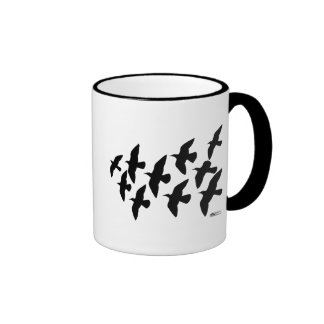 Flying Flight Pigeons Ringer Coffee Mug