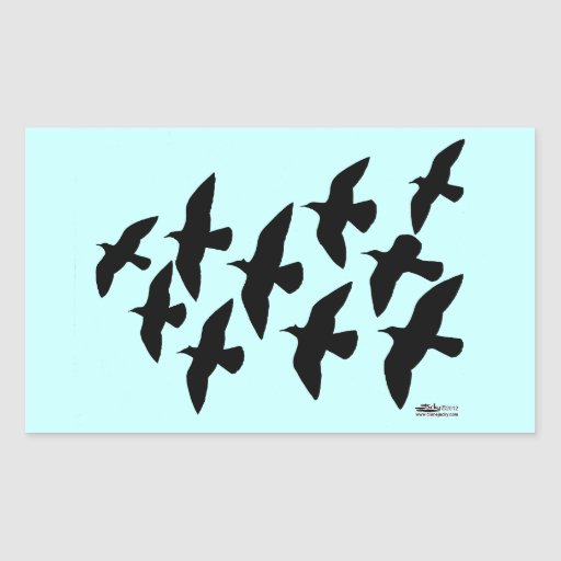Flying Flight Pigeons Stickers