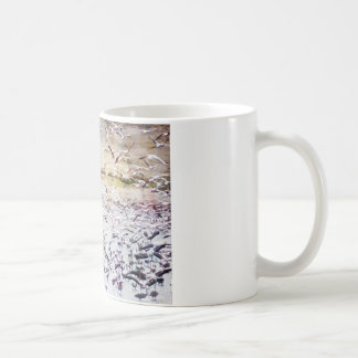 Flying Flock of Flamingos Coffee Mug