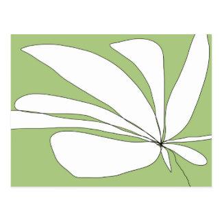 Flying Floral - Green postcard