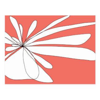 Flying Floral - Pink postcard