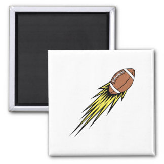 Flying Football 2 Inch Square Magnet