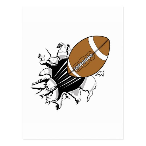 Flying Football Postcard