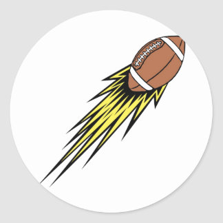 Flying Football Classic Round Sticker
