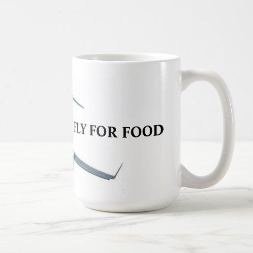 Flying for food mug